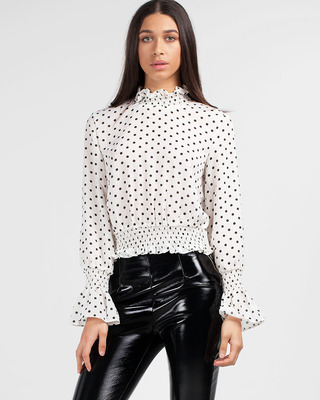 Hot Dot Blouse White