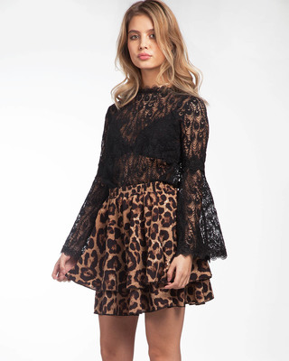 Full of Lace Top Black