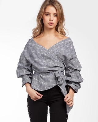 Parisienne Wrap Top