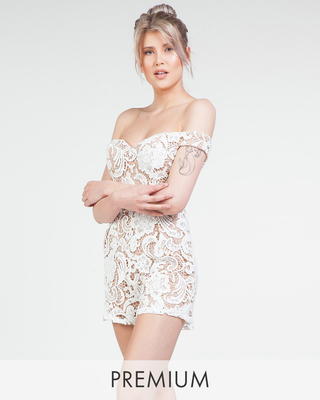 Lace Dream Playsuit White