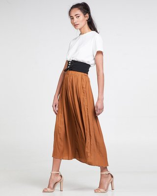 Down To Earth Pleated Culottes
